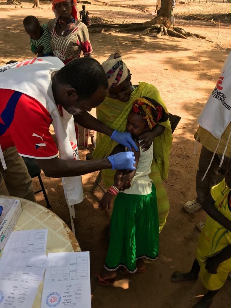 Vaccination d'urgence contre la rougeole dans la Vakaga. 2019. République centrafricaine.