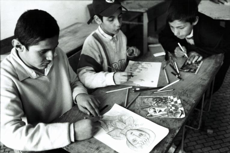Le centre deVardashen, où MSF a ouvert un projet unique de soutien aux enfants en difficulté  © MSF