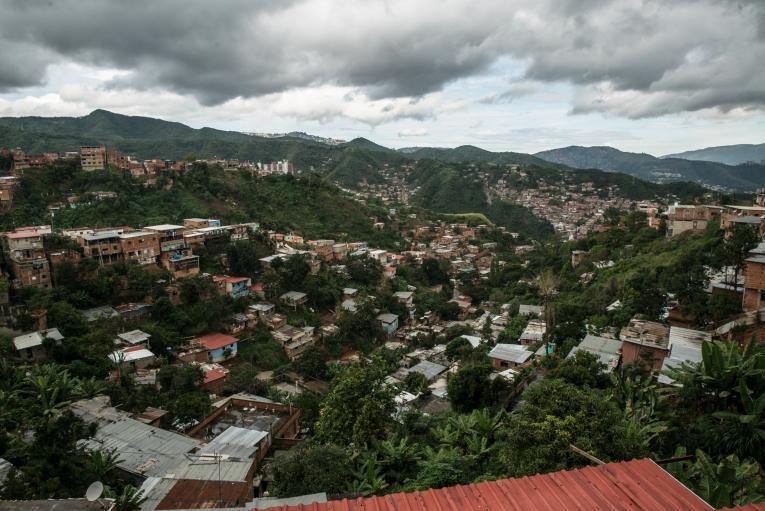 District La Pradera, Caracas, oùles équipes MSFdispensent des soins médicaux et de santé mentale.  © Marta Soszynska/MSF