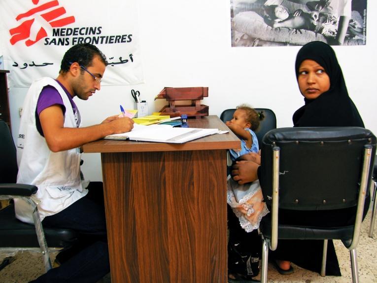 Réception du projet d'assistance aux migrants par MSF dans la région du Grand Caire, en Egypte. 2010  © MSF