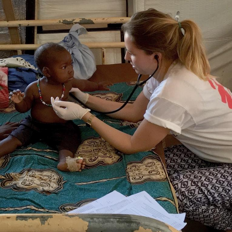 Dr. Katie Treble à l'hôpital de Bria.  © MSF