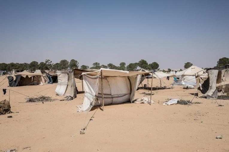 Vue du camp deTwahina, à proximité deTabqa.  © Agnes Varraine-Leca
