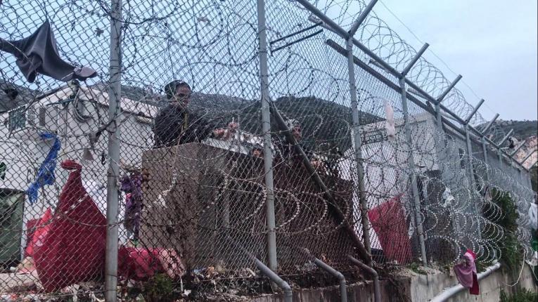 Hotspot de Samos en Grèce.  © Mohammad Ghannam/MSF