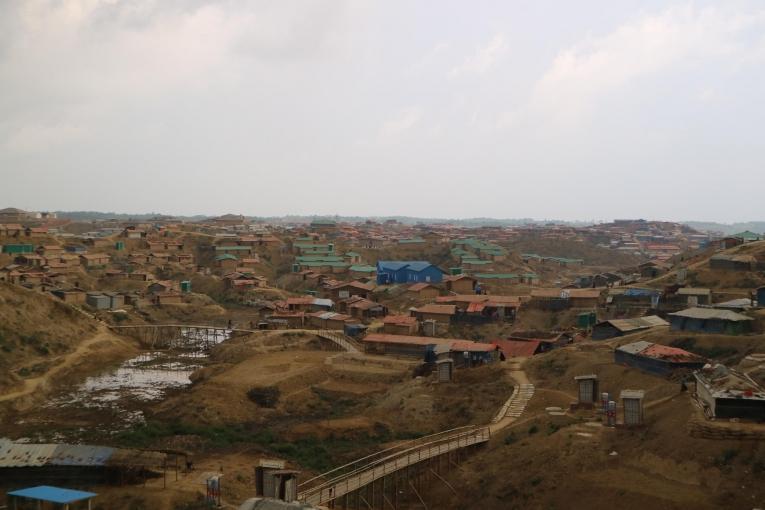 Une vue ducamp de réfugiés de Kutupalong-Balukhali.  © MSF