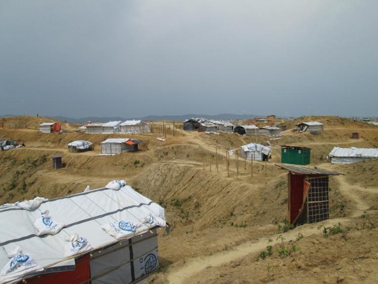 Le camp 20 est une extension nouvelle dans laquelle les réfugiés rohingyas qui vivent des zones surpeuplées,à risque de glissements de terrain ou d'inondations,seront installés.    © Brigitte Breuillac/MSF