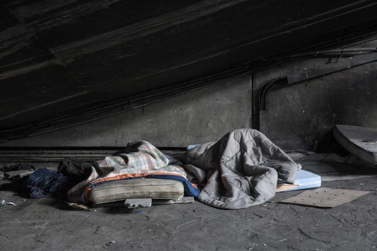 Campementinformelà la Porte de la Chapelle. Paris. Décembre 2017.  © Antoine Kremer/MSF