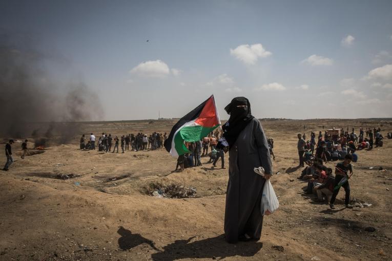 Manifestation du 11 mai. Bande de Gaza. 2018.  © Laurence Geai