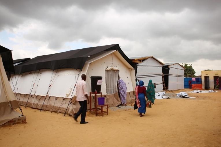 Centre nutritionnel thérapeutique de Médecins Sans Frontières àN'Djamena. Tchad. 2018.  © Mohammad Ghannam/MSF