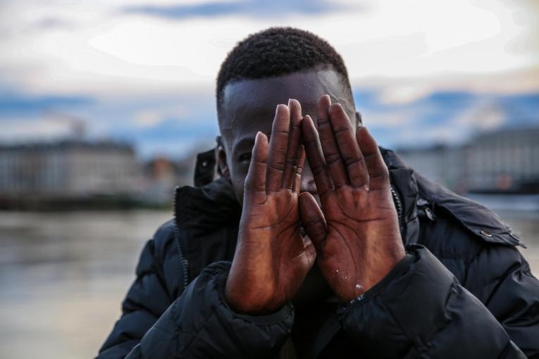 Nana a16 ans et il est Guinéen. 2018.  © Mohammad Ghannam/MSF