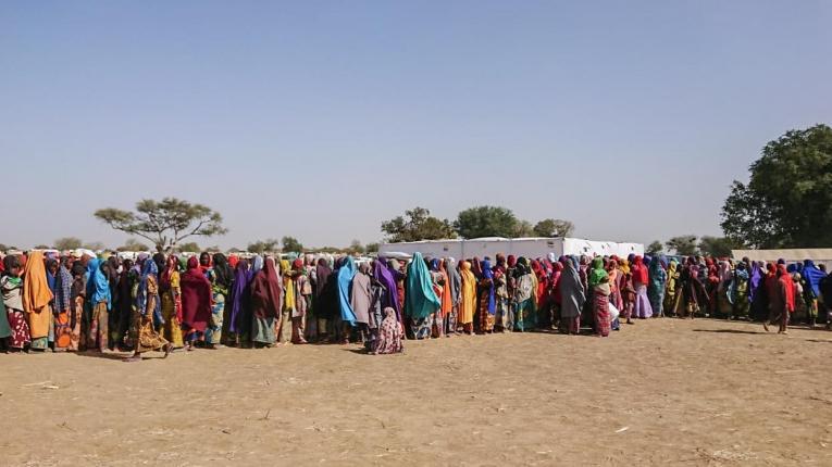 Réfugiés nigérians dans la ville de Goura. 2019. Cameroun.  © MSF