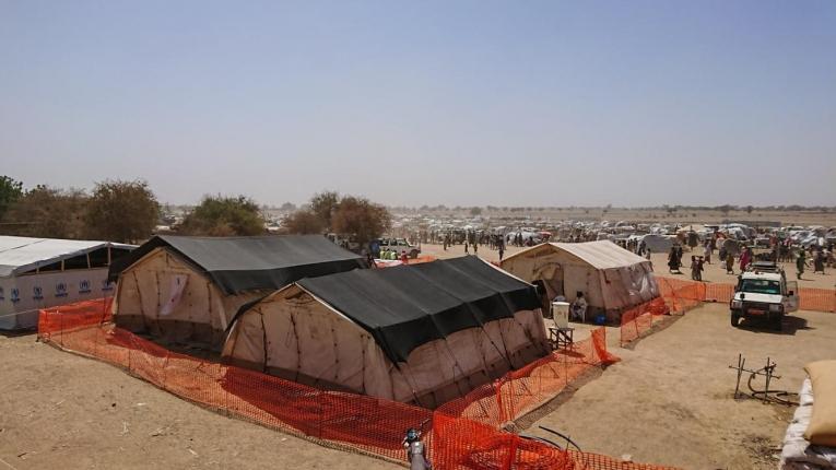 Camp de réfugiés nigérians ayant fui leur pays après l'attaque de la ville de Rann. 2019. Cameroun.  © MSF