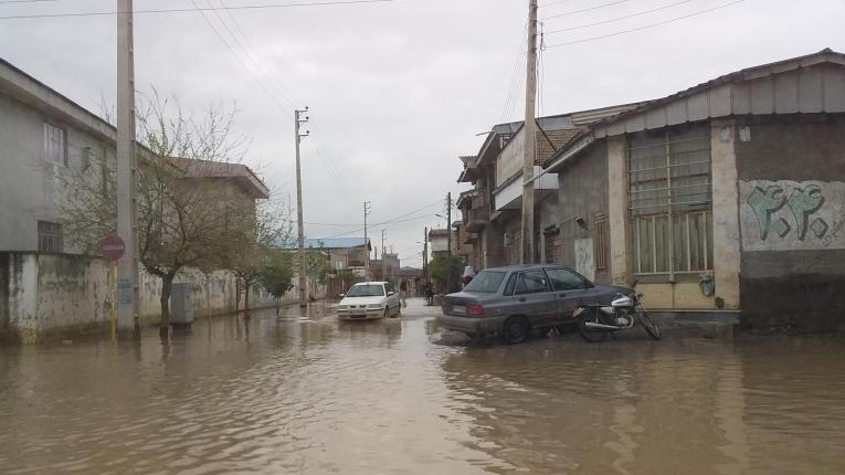 Inondations dans la ville d'Aq Qala, dans la province du Golestan. 2019. Iran.  © MSF