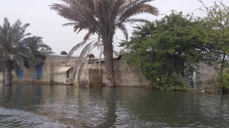 Inondations dans la province duKhouzestan. 2019. Iran.  © Olivier Aubry/MSF