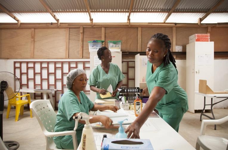 Au Liberia,MSF gère actuellement un hôpital pédiatrique, l'hôpital de Bardnesville Junction, et le programme de santé mentale, qui a débuté en 2017.  © marco garofalo