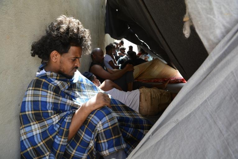 Centre de détention de Zintan, Libye, juin 2019.  © Jérôme Tubiana/MSF