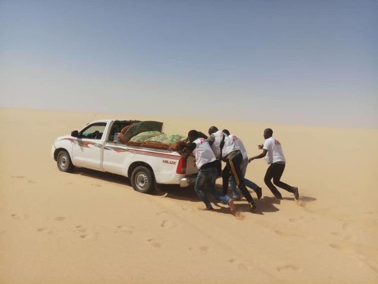 Zone de Dirkou, région d'Agadez region. Dirkou est l'un des endroitsoù MSF gère des cliniques mobiles pour aider les personnes en déplacement et les communautés hôtes vulnérables.  © Innocent Kunywana/MSF