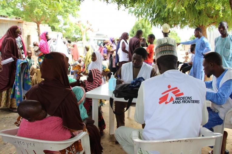 Une clinique mobile MSF à Maiduguri. 2019. Nigeria.  © Yuna Cho/MSF
