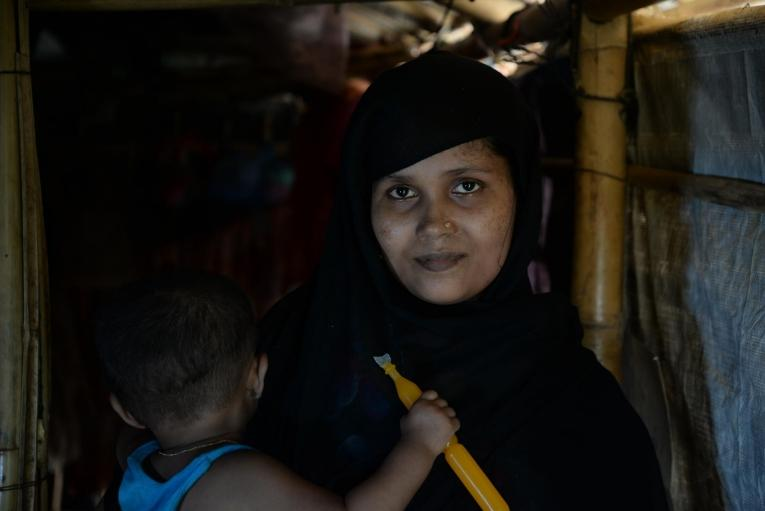 Portrait de Rashida.  © Mohammad Ghannam/MSF