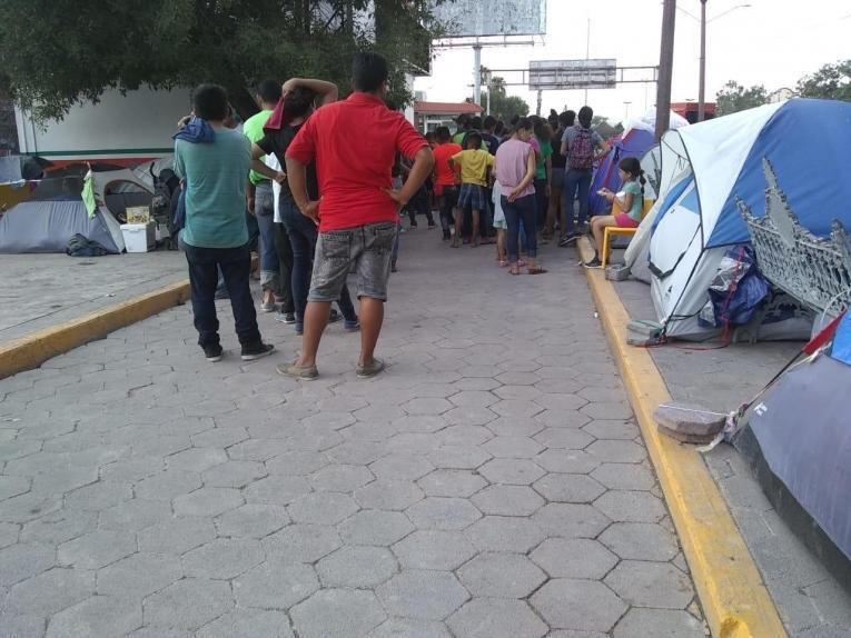 Dans le camp de Matamoros.  © MSF