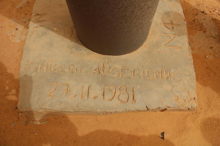 Le «Point Zéro», à la frontière entre l'Algérie et le Niger.  © Pape Cire Kane/MSF