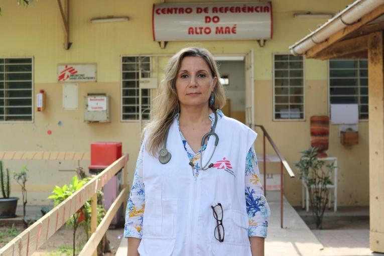 Natalia Tamayo, spécialiste des maladies infectieuses MSF au Centre de référence Alto Mae (CRAM) à Maputo, au Mozambique, où des soins sont prodigués, notamment aux patients atteints du VIH.  © MSF/Ariana Atala