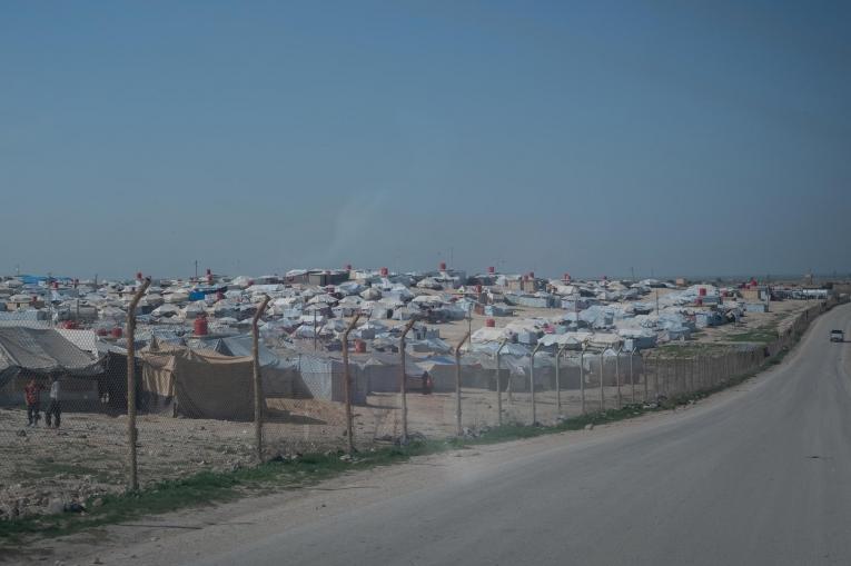 Vue du camp d'Al Hol, dans l'est du gouvernorat d'Al Hasakeh, dans le nord-est de la Syrie, le 09 mars 2020.  © MSF