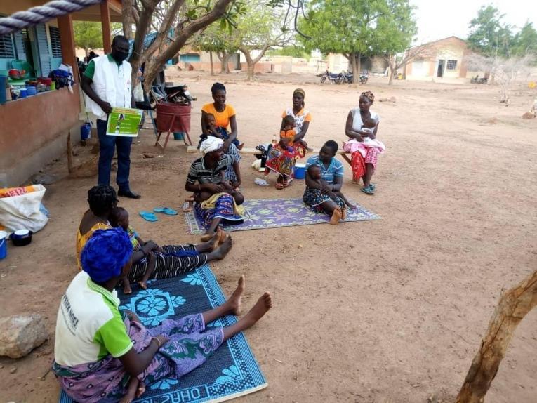 Une structure de santé soutenue par MSF à Fada. Burkina Faso. 2020.     © MSF