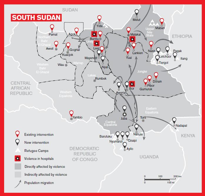MSF au Soudan du Sud au 1er juillet 2014