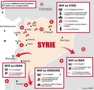 Actiivtés de MSF en Syrie et dans la région