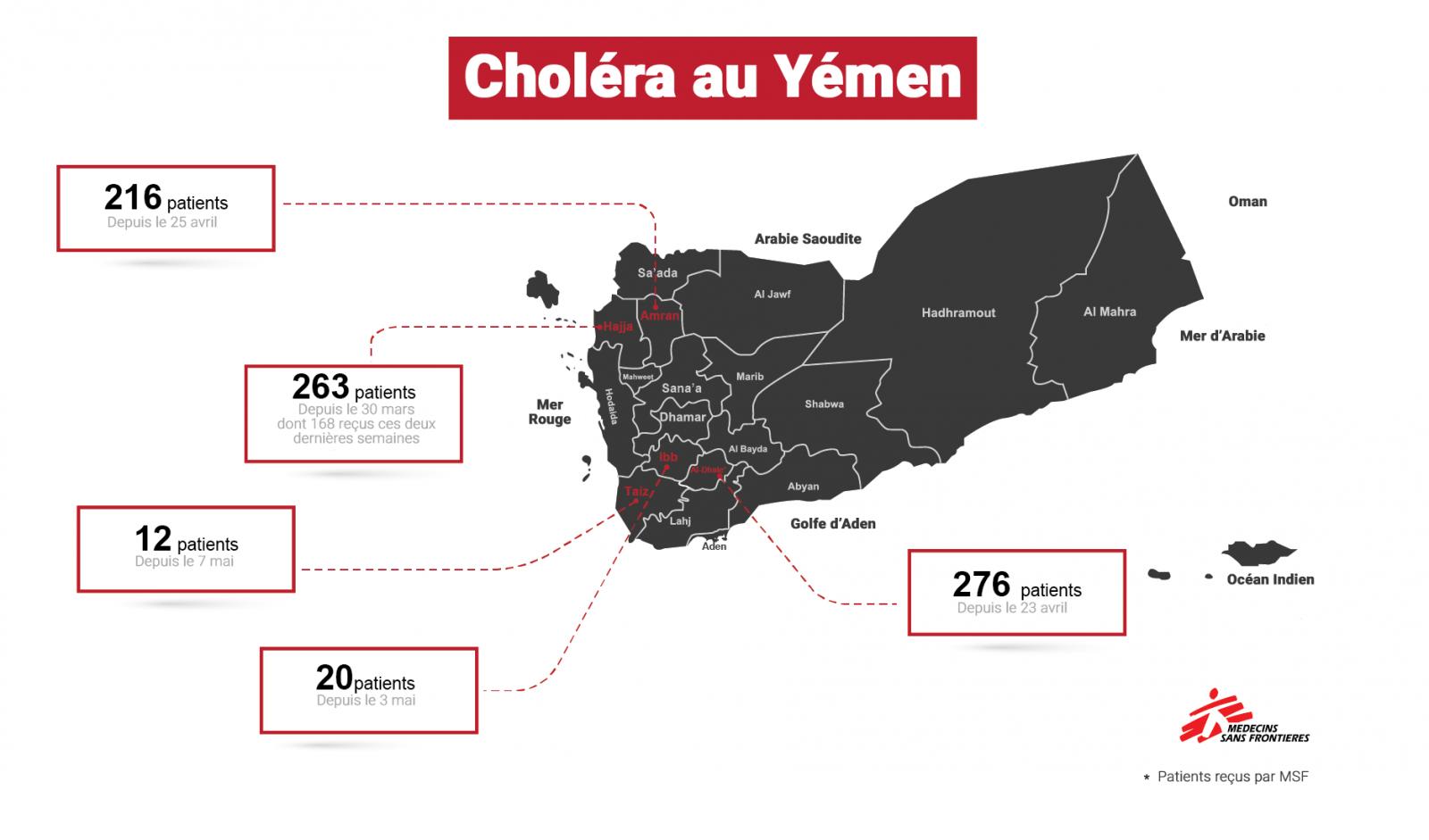 Activités MSF de lutte contre le choléra au Yémen, mai 2017
