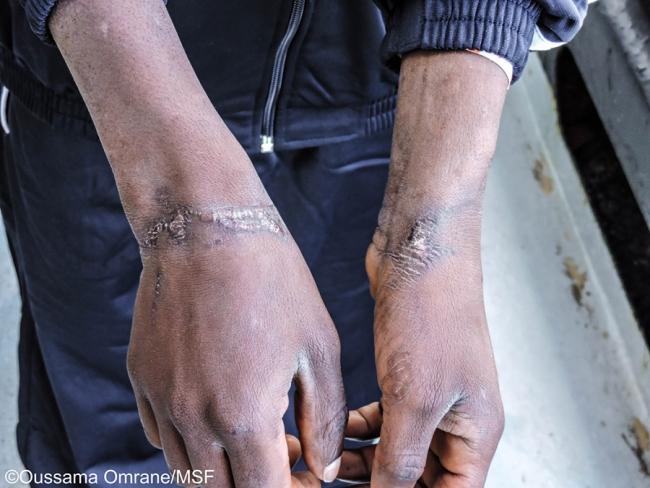 Jonathan, jeune Nigérian secouru par l'Aquarius © Antony Jean