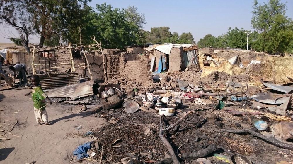 Le camp de déplacés de Rann, Nigeria, après le bombardement © Mohammed Musoke/MSF