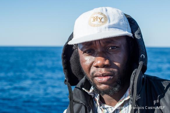 Abdu, originaire de Gambie, a été secouru le 14 mai par le MY Phoenix.