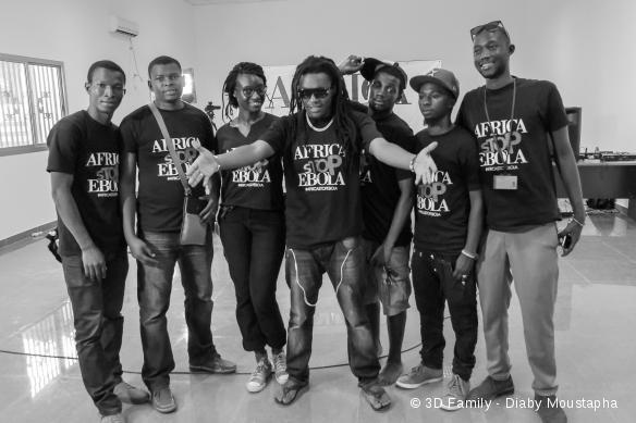 """Les candidats du concours de chant """"Africa Stop Ebola"""""""