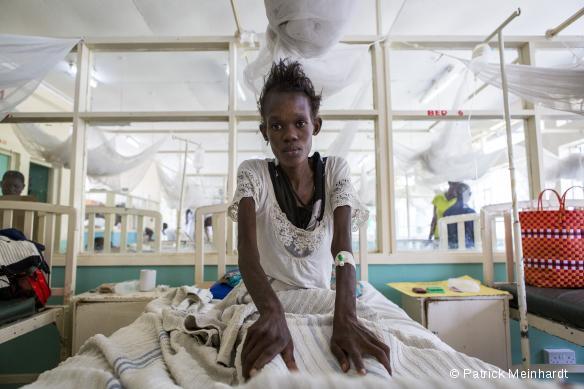 Homa Bay, Kenya : Winnie, 25 ans, testée séropositive en 2015 et sous traitement antirétroviral.