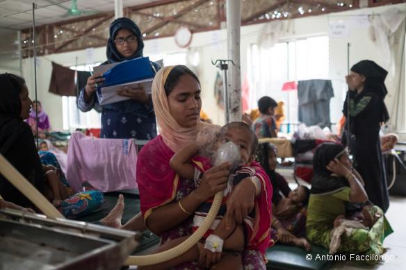 Clinique de MSF dans le camp de Kutupalong, septembre 2017.
