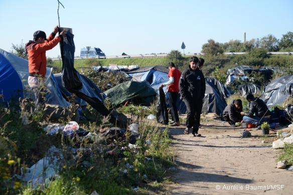 La Jungle de Calais, photographiée le 30 septembre 2015.