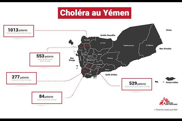Répartition des patients pris en charge par MSF au 17 mai 2017.