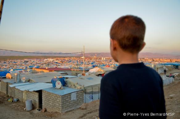 Le camp de réfugiés syriens de Domiz, en Irak, en 2013.
