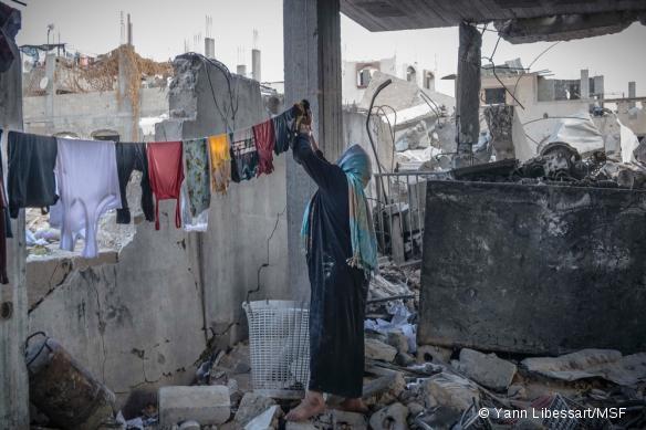 Bande de Gaza, septembre 2014, après l'offensive militaire israélienne de l'été.