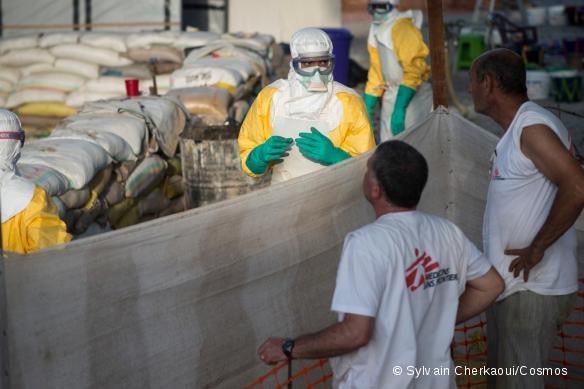 Centre de traitement de l'Ebola à Guéckédou en Guinée.