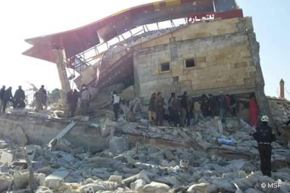 Un hôpital situé dans le nord de la Syrie et soutenu par MSF détruit par des attaques