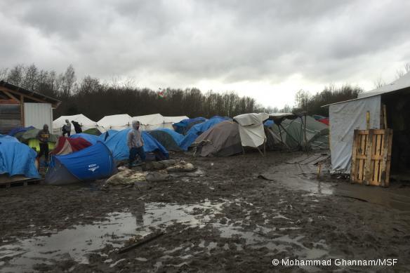 Le camp de Grande-Synthe, au 22 décembre 2015.