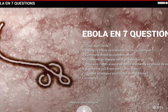 Infographie sur Ebola réalisée par RFI en partenariat avec MSF