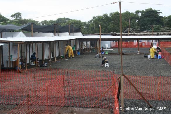 Centre de traitement Ebola à Monrovia, au Liberia.