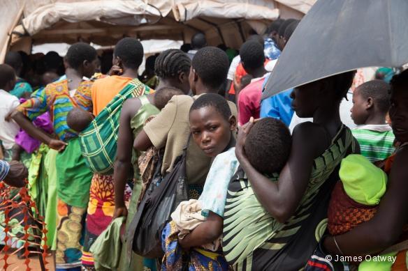 Camp de réfugiés mozambicains de Kapise. Février 2016