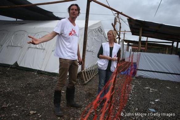 Construction du centre MSF de traitement Ebola à Monrovia, Libéria.