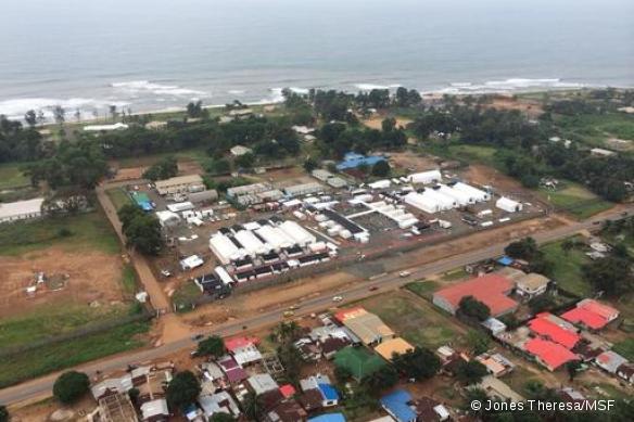 Le centre Ebola d'ELWA 3, à Monrovia.