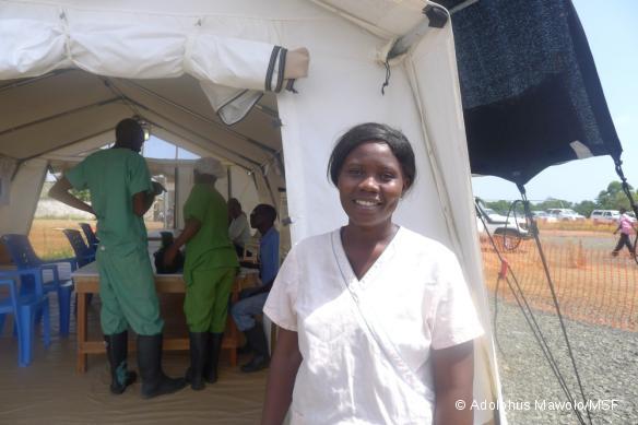 Salome Karwah - patiente qui a survécu à Ebola et travaille maintenant pour MSF