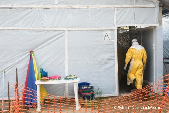 Centre Ebola MSF à Guéckédou.